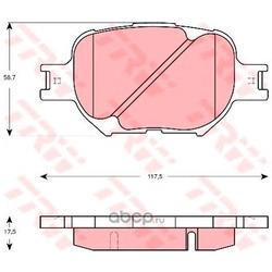 Колодки тормозные передние (TRW/Lucas) GDB3316
