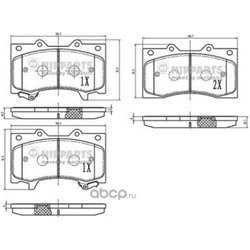 Комплект тормозных колодок (Nipparts) N3601109