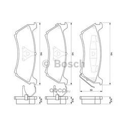 Комплект тормозных колодок, дисковый тормоз (Bosch) 0986424648
