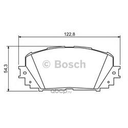 Колодки тормозные, комплект, передние (Bosch) 0986494196