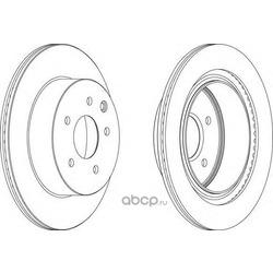 Тормозной диск (Ferodo) DDF1579