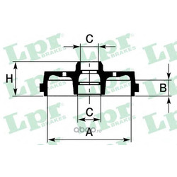 Тормозной барабан (Lpr) 7D0135
