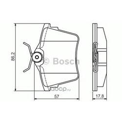 Комплект тормозных колодок, дисковый тормоз (Bosch) 0986495090