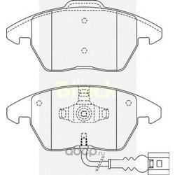 Комплект тормозных колодок, дисковый тормоз (BRECK) 235870070110