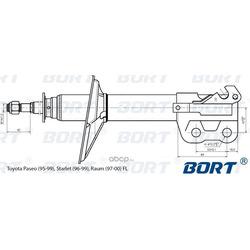 Стойка амортизационная газомасляная передняя левая (BORT) G22045117L