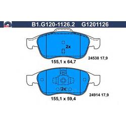 Комплект тормозных колодок (GALFER) B1G12011262