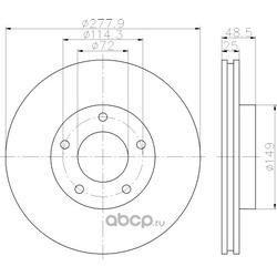 Тормозной диск (Hella) 8DD355110881