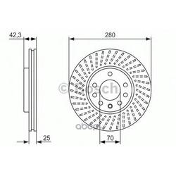Диск тормозной вентилируемый (Bosch) 0986479919