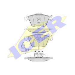 Комплект тормозных колодок, дисковый тормоз (Icer) 181531