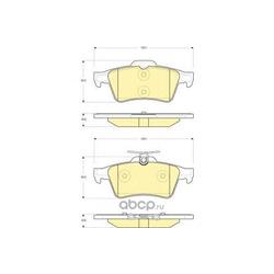Комплект тормозных колодок, дисковый тормоз (Girling) 6116212