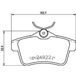 Комплект тормозных колодок, дисковый тормоз (Hella) 8DB355014531