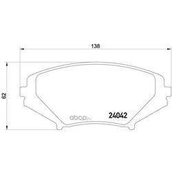 Комплект тормозных колодок, дисковый тормоз (Textar) 2404201