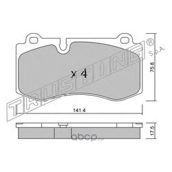 Комплект тормозных колодок, дисковый тормоз (Trusting) 6850
