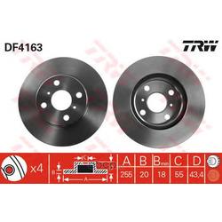 Диск тормозной вентилируемый (TRW/Lucas) DF4163