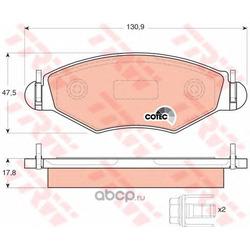 Колодки тормозные передние (TRW/Lucas) GDB1500