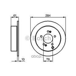 Тормозной диск (Bosch) 0986479126