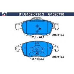 Комплект тормозных колодок (GALFER) B1G10207902