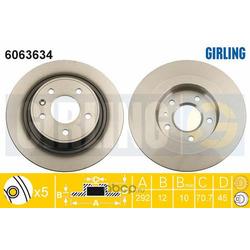 Тормозной диск (Girling) 6063634