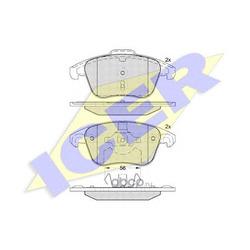 Колодки тормозные дисковые, комплект (Icer) 181866