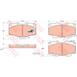 Комплект тормозных колодок, дисковый тормоз (TRW/Lucas) GDB797