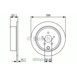 Тормозной диск (Bosch) 0986479A10