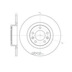 Тормозной диск (Remsa) 6147300