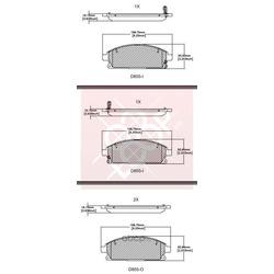 Дисковые тормозные колодки (Friction Master) CMX855