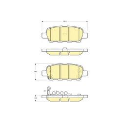 Комплект тормозных колодок, дисковый тормоз (Girling) 6132949