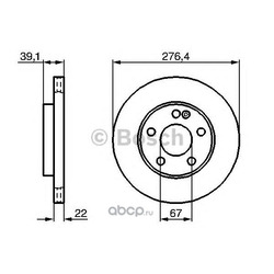 Диск тормозной Bosch Mercedes Class 04- передний (Bosch) 0986479186