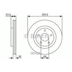 Тормозной диск (Bosch) 0986479R89