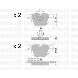 Комплект тормозных колодок, дисковый тормоз (Metelli) 2205610