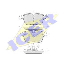 Комплект тормозных колодок, дисковый тормоз (Icer) 181885