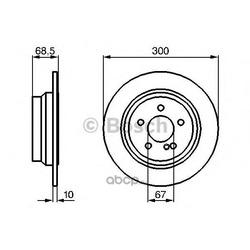 Диск тормозной (Bosch) 0986479041