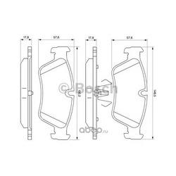 Комплект тормозных колодок, дисковый тормоз (Bosch) 0986494096