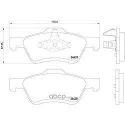 Колодки тормозные дисковые TEXTAR (Textar) 2443901