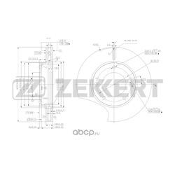Диск.торм.перед. Kia Sorento I II 02- (Zekkert) BS5475