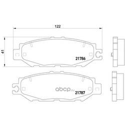 Колодки тормозные дисковые TEXTAR (Textar) 2178601