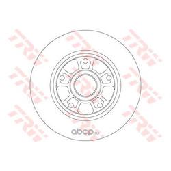 Тормозной диск (TRW/Lucas) DF6182