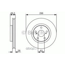 Тормозной диск (Bosch) 0986479S22