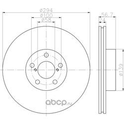 Тормозной диск (Hella) 8DD355112051