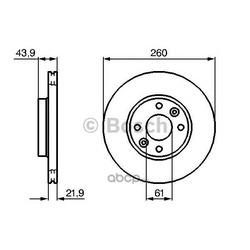 Тормозной диск (Bosch) 0986479103
