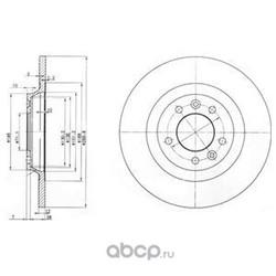 Тормозной диск (Delphi) BG3836