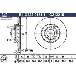 Тормозной диск (GALFER) B1G22201511