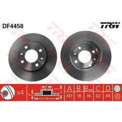Диск тормозной вентилируемый (TRW/Lucas) DF4458