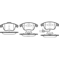 Комплект тормозных колодок, дисковый тормоз (Remsa) 121911