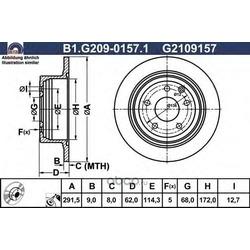 Тормозной диск (GALFER) B1G20901571
