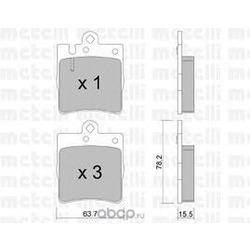 Комплект тормозных колодок, дисковый тормоз (Metelli) 2203440
