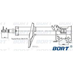 АМОРТИЗАТОР ПОДВЕСКИ (BORT) G22250198L