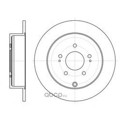 Тормозной диск (Remsa) 6109800
