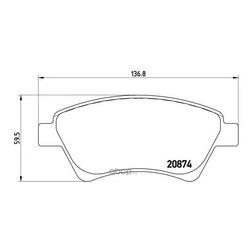 Комплект тормозных колодок, дисковый тормоз (Brembo) P68034